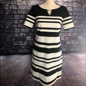 WHBM Black & White Dress